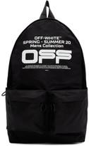 Off-White Off White Black Wavy Logo Backpack