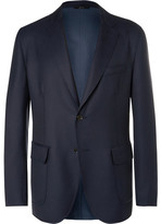 Brioni Blue Water-Resistant Wool-Twill Blazer