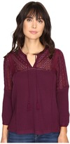 Lucky Brand Eyelet Peasant Top Women's Clothing