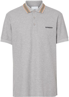 Burberry Icon stripe detail polo shirt