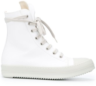 Rick Owens Lace-Up High-Top Sneakers