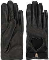Gucci Heart cut-out driving gloves