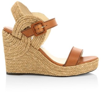 Jimmy Choo Delphi Leather Rope Wedges