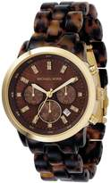 Michael Kors Women's MK5216 Chronograph Tortoise Watch