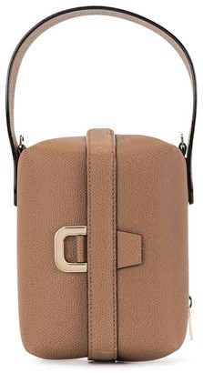 Valextra Leather Boxy Shoulder Bag