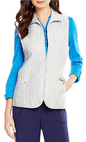 Allison Daley Zip Front Quilted Lined Vest