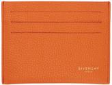 Givenchy Orange Leather Card Holder