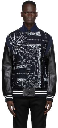 Sacai Navy Dr. Woo Edition Bandana Print Jacket