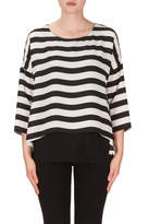 Joseph Ribkoff Horizon Stripe Tunic Top