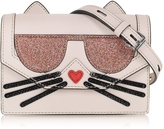 Karl Lagerfeld K/Kocktail Choupette Crossbody Bag w/Glitter