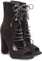 KENDALL + KYLIE Kendall+Kylie Suede Open Toe Ankle Boots