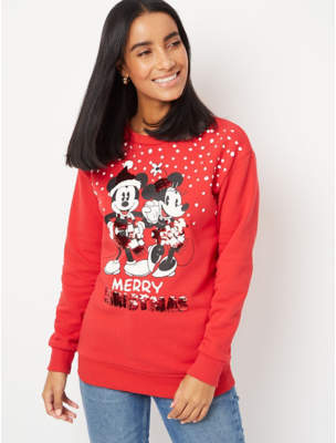 George Red Mickey and Minnie Mouse Christmas Sweatshirt