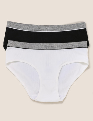 Marks and Spencer 2pk Ribbed Knickers (6-16 Yrs)