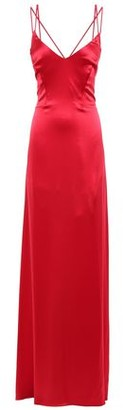 ZAC Zac Posen Noel Open-back Draped Satin-crepe Gown