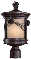 Minka Lavery The Great Outdoors GO 8750 Tuscan 1 Light Outdoor Wall Sconces from the Montanero Collection, Mossoro Walnut with Silver
