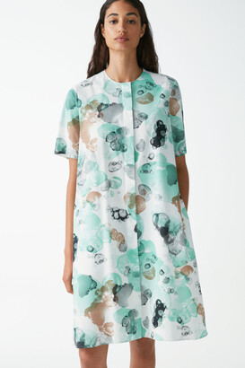 Cos Printed Cotton Shirt Dress