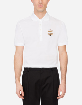 Dolce & Gabbana Cotton Pique Polo Shirt With French Wire Patch