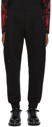 Alexander McQueen Black Cotton Lounge Pants