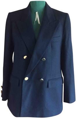 Aquascutum London Blue Wool Jacket for Women