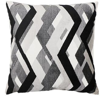 The Piper Collection Hugh 22x22 Pillow - Onyx/Gray Velvet