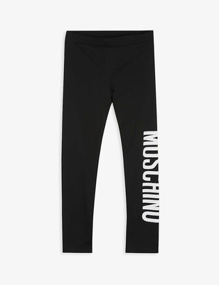 Moschino Logo-print cotton-blend leggings 4-14 years