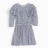 J.Crew Girls' ruffle-trimmed striped dress