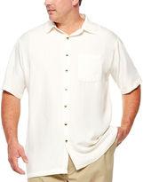 Van Heusen Short Sleeve Stripe Button-Front Shirt-Big and Tall