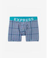 Express small checked boxer brief