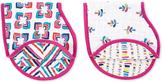 Aden Anais Pink & Blue Flip-Side Classic Burpy Bib - Set of Two