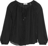 L'Agence Pearl fil coupé silk-blend blouse