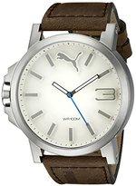 Puma Men's PU103461016 Ultrasize 50 - Silver Brown Analog Display Japanese Quartz Brown Watch