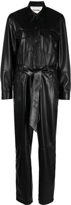 Nanushka Ashton vegan leather straight jumpsuit