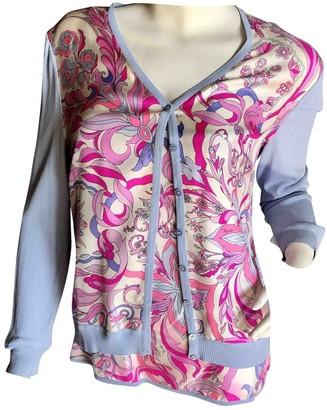 Emilio Pucci Blue Silk Knitwear for Women