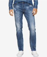 Calvin Klein Jeans Men's Slim-Straight Fit Light Destroyed Jeans