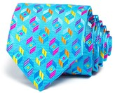 Robert Talbott Bright Prism Hexagon Neat Classic Tie