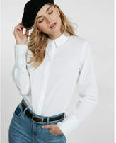 Express no pocket cotton boyfriend shirt