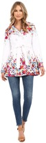 Jessica Simpson Belted Floral Trench
