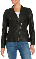 Via Spiga Leather Moto Jacket