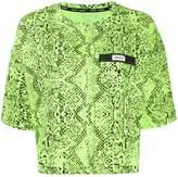 DKNY snakeskin-effect crew neck T-shirt