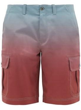 Sies Marjan Elias Degrade Poplin Cargo Shorts - Mens - Blue Multi