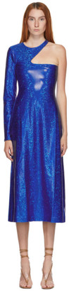 Saks Potts SSENSE Exclusive Blue Shimmer Kitten Dress