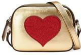 Gucci Girl's Leather Messenger Bag - Metallic