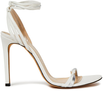 IRO Doyle Metallic-trimmed Leather Sandals