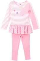 Kids Headquarters Pink Stripe Unicorn Tunic & Leggings - Infant & Girls