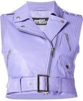 Jeremy Scott leather biker vest