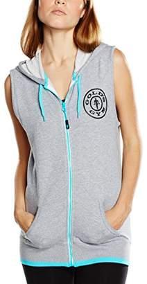 Gold's Gym Women's Muscle Joe Ladies Premium Sleeveless Hoodie Sports Jumper