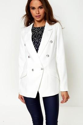 Iclothing iClothing Tess Military Blazer in Off White