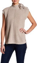 Jessica Simpson Lace-Up Cap Sleeve Sweater