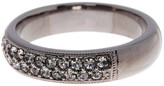 Nadri Black Rhodium Simulated Diamond Embellished Band Ring - Size 7