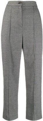 Chalayan Houndstooth Print Cropped Trousers